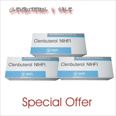 Clenbuterol 20 mcg 3 boxes 150 tabs / 20mcg
