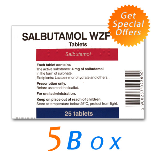 Salbutamol (CLENBUTEROL) 40 mcg (5box- 125tabs)
